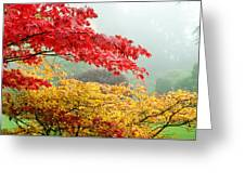 Trees In A Garden, Butchart Gardens Greeting Card