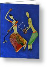 Tribal Dance From India Greeting Card by Shruti Prasad