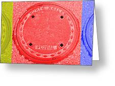 Tricolor Manhole Greeting Card