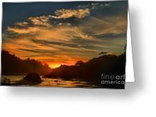 Trinidad Beach Sunset Greeting Card by Adam Jewell