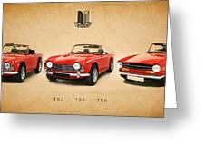 Triumph Tr Series Greeting Card