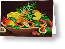 Tropical Fruits Greeting Card