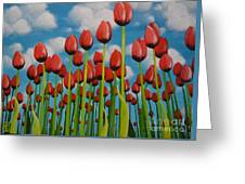 Tulip Festival Greeting Card by Holly Donohoe