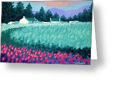 Turquoise Meadow Greeting Card