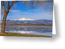 Twin Peaks Longs And Meeker Lake Reflection Greeting Card