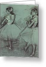 Two Dancers Greeting Card by Edgar Degas