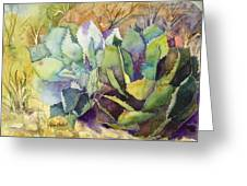 Two Fat Agaves - 140 Lb Greeting Card