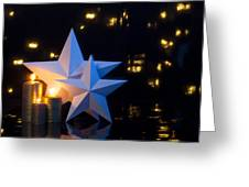 Two Stars With Gold Candles Greeting Card