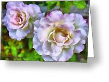 Two White Roses Greeting Card