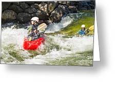 Two Whitewater Kayaks Greeting Card