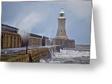 Tynemouth Pier Greeting Card
