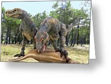 Tyrannosaurus Rex Dinosaurs Greeting Card