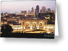 Union Station Evening Greeting Card