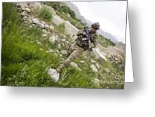 U.s. Army Specialist Walks Greeting Card