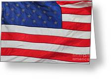 Us Flag On Memorial Day Greeting Card by Robert D  Brozek