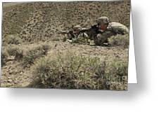 U.s. Soldiers Provide Security Greeting Card