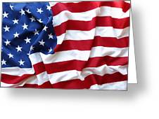 Usa Flag Greeting Card