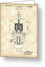 Vacuum Tube Patent 1942 - Vintage Greeting Card