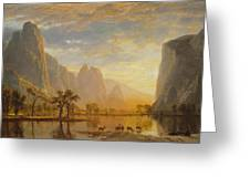 Valley Of The Yosemite Greeting Card