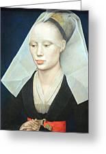 Van Der Weyden's Portrait Of A Lady Greeting Card
