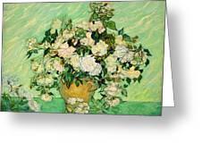 Van Gogh's Roses Greeting Card