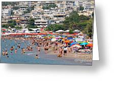 Varkiza Beach Greeting Card