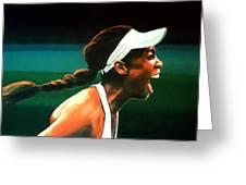 Venus Williams Greeting Card by Paul Meijering