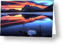 Vermillion Lakes Mount Rundle Greeting Card