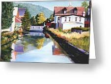 View Along The Canal Greeting Card