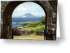 View From Brimstone Hill Fortress Greeting Card