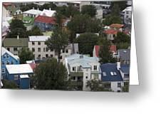 View Of Reykjavik Iceland Greeting Card