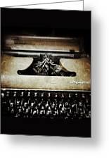 Vintage Olympia Typewriter Greeting Card