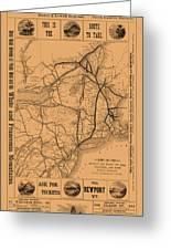 Vintage Train Ad 1887 Greeting Card