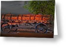 Wagons East Greeting Card by Gunter Nezhoda