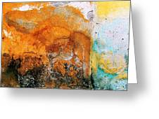 Wall Abstract 40 Greeting Card