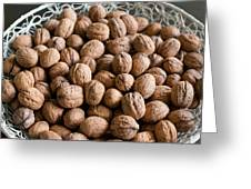 Walnuts In A Basket Greeting Card