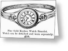 Watch Bracelet, 1891 Greeting Card