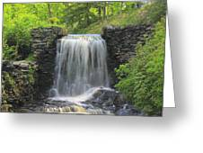 Water Fall Moore State Park Greeting Card