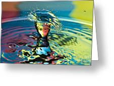 Water Splash Having A Bad Hair Day Greeting Card