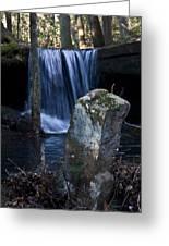Waterfall At The Ruins Greeting Card