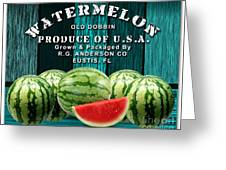 Watermelon Farm Greeting Card