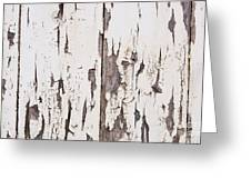 Weathered Paint On Wood Greeting Card