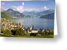 Weggis Switzerland Greeting Card