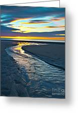 Wells Beach Maine Sunrise Greeting Card