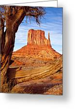 West Mitten Monument Valley Greeting Card