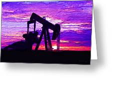 West Texas Intermediate Greeting Card by GCannon