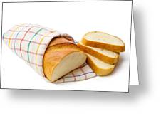 White Bread With Slices Greeting Card