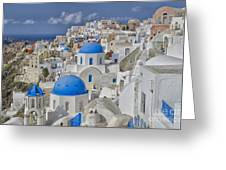 White Buildings With Steep Slope Greeting Card
