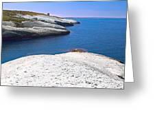 White Chalk Cliffs Eroded Coastline Greeting Card by Dirk Ercken