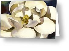 White Magnolia With Blues Greeting Card